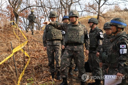 """정경두 """"북한, JSA 비무장화 작업서 지뢰 636발 제거"""""""