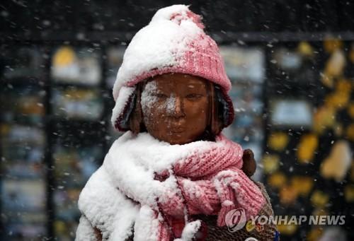 '대설주의보' 서울 첫눈 펑펑…8시30분까지 5.3㎝ 쌓여