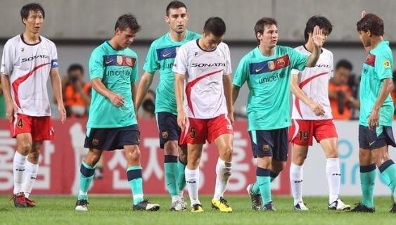 지난 2010년 열린 K-리그 올스타 vs FC 바르셀로나 친선경기 [사진=연합뉴스]