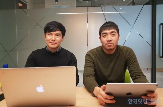 원지현 콘텐츠프로토콜 공동대표(오른쪽)와 이중원 사업팀장.