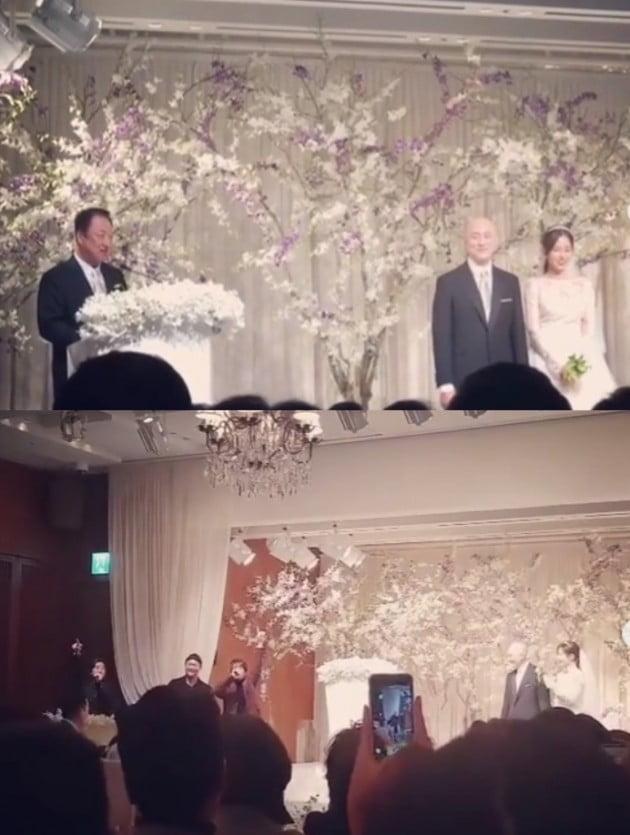 두산 박서원, 조수애 아나운서 결혼식 /사진=박서원 인스타그램