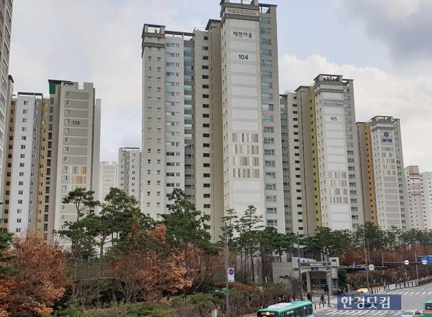 판교신도시에서 집값이 가장 비싼 아파트로 꼽히는 백현동 '푸르지오그랑블'. 전형진 기자