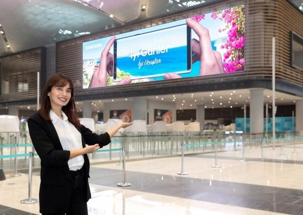 삼성전자, 터키 이스탄불 신공항에 최대 규모 'LED 사이니지' 설치