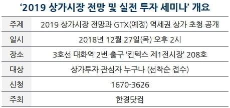[한경부동산] 2019 상가시장 전망 및 실전 세미나 … 오늘 접수 마감
