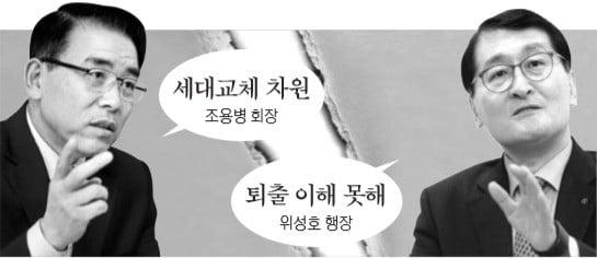 """위성호 신한은행장 """"퇴출 이해 못해""""…조용병 신한금융지주 회장에 불만 표출"""