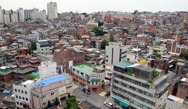 재개발 전 서울 아현뉴타운 아현3구역 일대. 한경DB