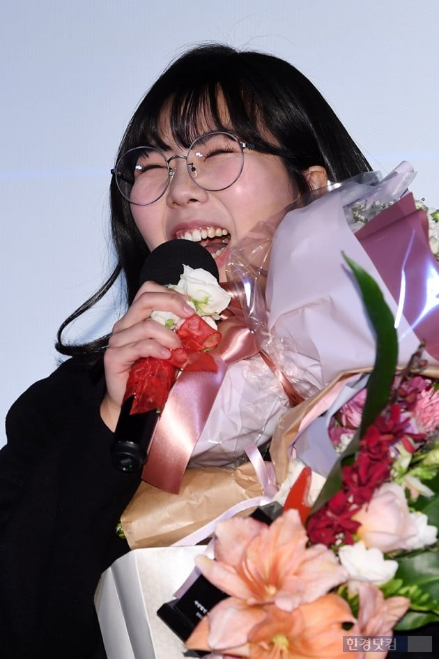 [포토] 김가희, '신인상 받고 호탕한 웃음'(여성영화인축제)