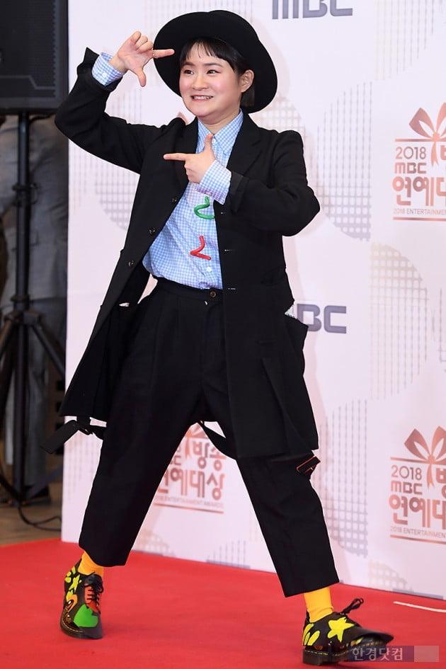 [포토] 김신영, '언제나 즐거운 모습~' (2018 MBC 방송연예대상)
