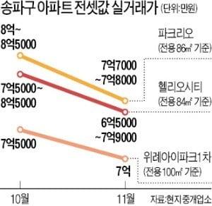 '대규모 입주' 헬리오시티發 전셋값 하락 일파…송파·위례까지 만파