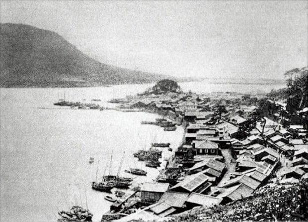 1900년대 개항기 부산항.