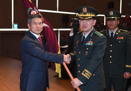 """정경두 """"軍, 평화·번영 열어가는 정부 노력 힘으로 뒷받침"""""""