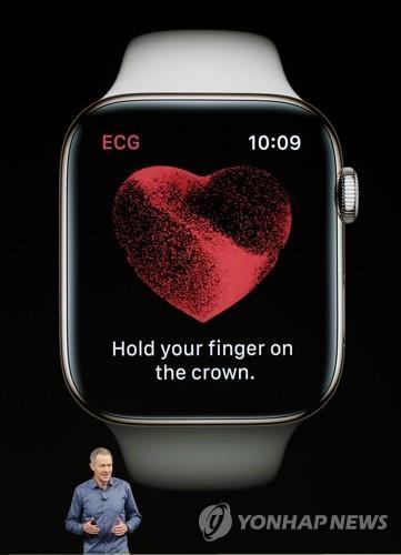 애플워치, 심전도 측정 업데이트…손가락 대면 심장상태 파악