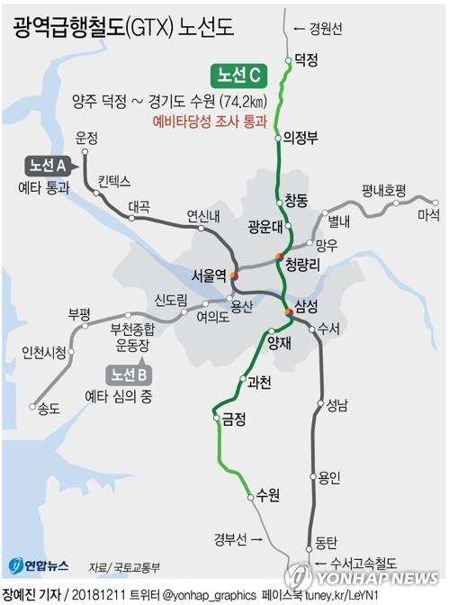 운정∼동탄 GTX A노선·신안산선 건설 본궤도 올랐다