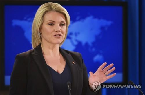 """""""트럼프, 차기 유엔대사에 나워트 국무부 대변인 지명키로"""""""