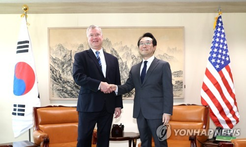 韓美북핵협상대표 만찬회동…내일 비핵화·남북협력 본격 논의