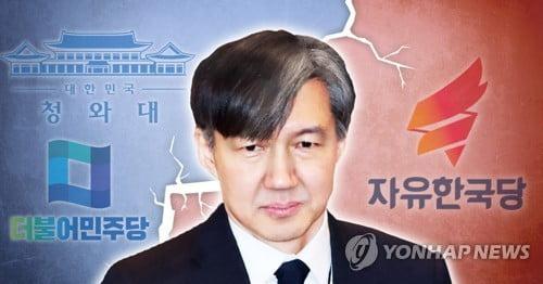 """'조국 사퇴' 공세에 말 아끼는 靑…""""비위처리 법령 안 어긋나"""""""