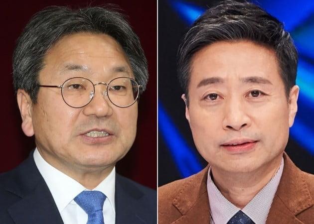 강기정 전 의원(좌) 윤도한 전 논설위원(우) [사진=연합뉴스]