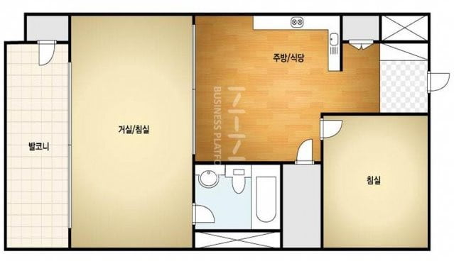 구로주공2차 아파트 전용 41㎡ 평면도. 네이버캡처