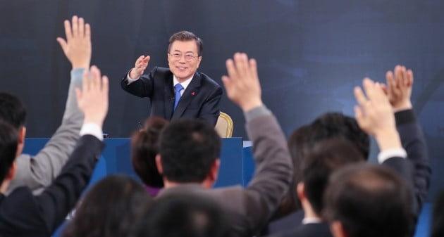 문재인 대통령 신년 기자회견 [사진=연합뉴스]