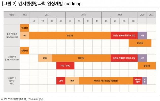 엔지켐생명과학, 임상 2상 성공시 20만원 도달 가능-한국