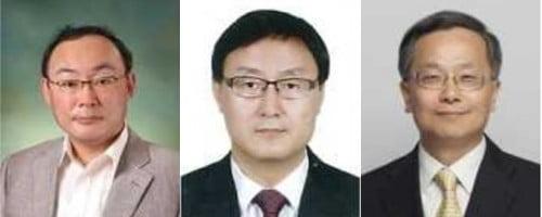 왼쪽부터 김동성 은행담당 부원장보, 이성재 보험담당 부원장보, 장준경 공시·조사담당 부원장보(사진=금융감독원 제공)