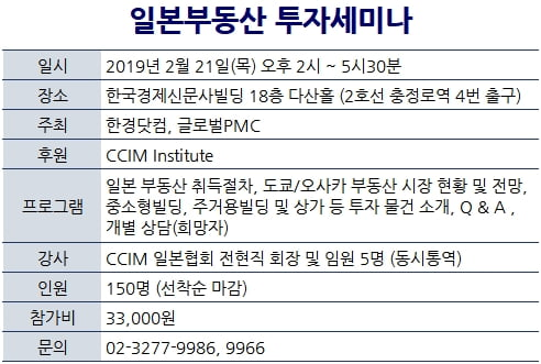 [한경부동산] 일본 동경·오사카 부동산투자 세미나 개최