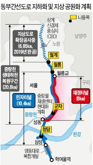 """월계~대치 지하도로 연결…""""주변 아파트 수혜"""""""