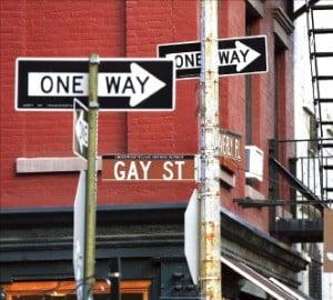 그리니치 빌리지의 게이 스트리트 이정표.