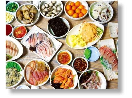 목포 향토음식 한상 차림.