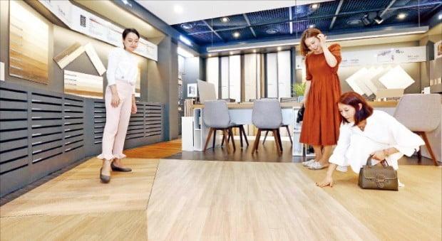 LG하우시스의 서울 논현동 지인스퀘어 2층 바닥재 전시공간. LG하우시스 제공