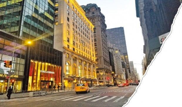 열 달째 비어 있는 뉴욕 맨해튼 5번가의 폴로랄프로렌 매장.