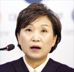 김현미 국토교통부 장관이 '2019년 부동산 가격공시 추진 방향'에 대해 브리핑하고 있다. /연합뉴스