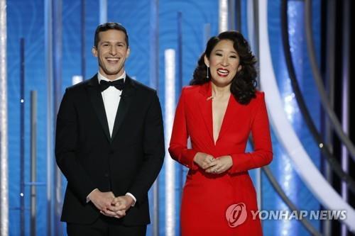 골든글로브 진행 한국계 샌드라 오, 아시아 첫 여우주연상 수상