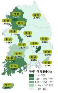 """한국감정원 """"올해 전국 집값·전셋값 '동반하락' 예상"""""""
