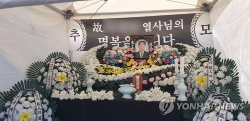'카카오 카풀 반대' 분신 택시기사 빈소 한강성심병원에 설치