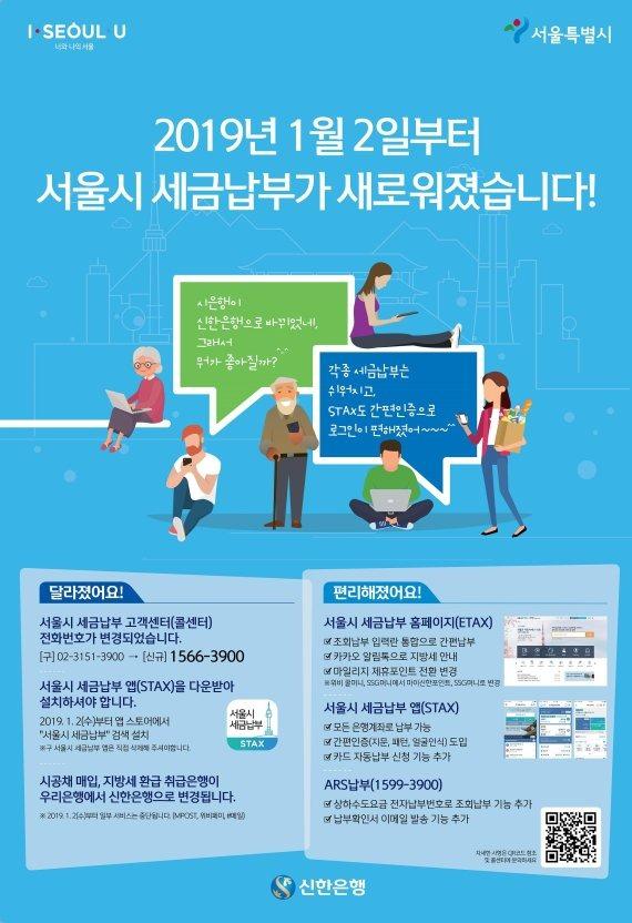 서울시, 새해부터 '세금납부 앱 서비스' 확대 개편