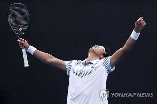 정현, 호주오픈 1회전서 3-2 대역전승…'4강 재현 가자!'