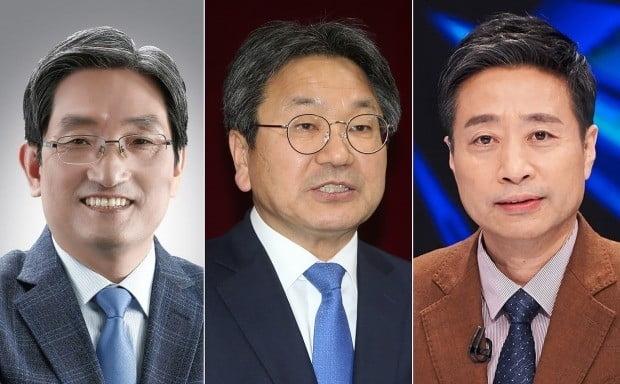 왼쪽부터 노영민 주중국대사, 강기전 전 의원, 윤도한 전 논설위원. 사진=연합뉴스