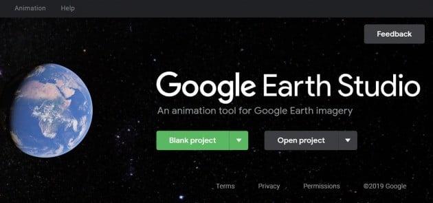 구글 어스 스튜디오 초기화면. / 출처=홈페이지 화면갈무리