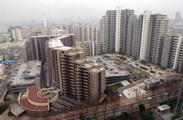 일본 도쿄 외곽의 아파트 단지. 한경DB