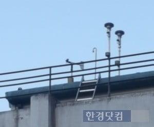 중구 대기측정소가 위치한 서울시청 서소문청사 3동 옥상.