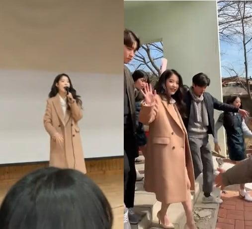 아이유가 김제여고 졸업식에 뜬 이유…팬 사랑의 좋은 예 (동영상)