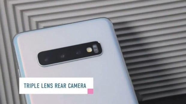 후면 카메라는 갤럭시S10과 S10플러스 모두 1200만화소 망원, 1200만화소 광각, 1600만화소 초광각의 트리플 카메라를 탑재했다.