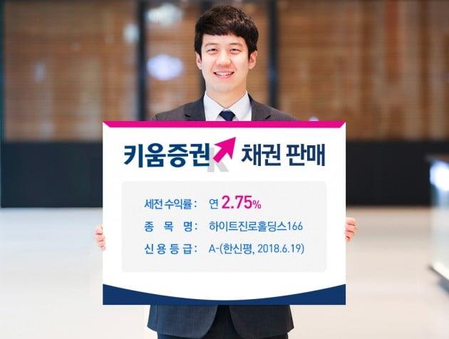 키움증권, 하이트진로홀딩스 채권 판매…연 최고 2.75% 수익