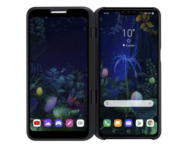 "LG전자가 24일(현지시각) 스페인 바르셀로나에서 2개의 화면을 뗐다 붙일 수 있는 5G 듀얼 스크린폰 'LG V50 씽큐 5G'를 공개했다. 권봉석 LG전자 MC/HE사업본부장(사장)은 ""V50 씽큐 5G를 앞세워 스마트폰 사업 재도약의 발판을 마련하겠다""고 말했다."