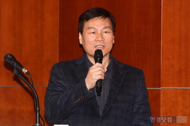 [포토] 주택임대사업자를 위한 관련법 개정안 강연하는 김동우 강사