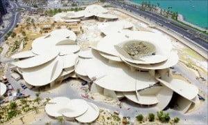 현대건설이 시공 중인 카타르 국립박물관.