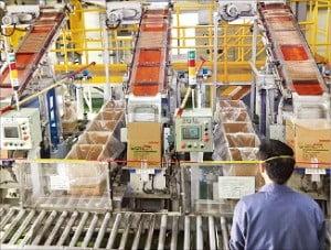 (주)한화의 충북 보은사업장에서 태국과 아랍에미리트(UAE)에 수출하는 산업용 화약이 생산되고 있다.  /한화 제공