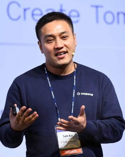 고산 에이팀벤처스 대표가 '글로벌 인재포럼 2018' 특별세션1에서 발표하고 있다. /김범준 기자 bjk07@hankyung.com