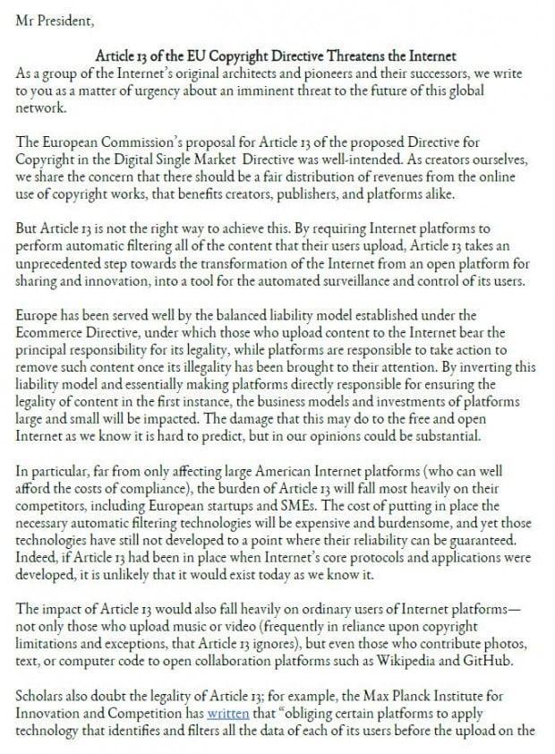 [아! EU] '인터넷의 아버지'도 우려…EU의 새 저작권법을 둘러싼 논란